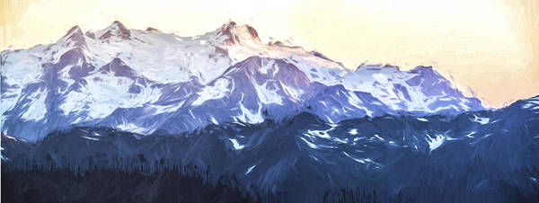 Wall Art - Digital Art - Up In The Mountains II by Jon Glaser