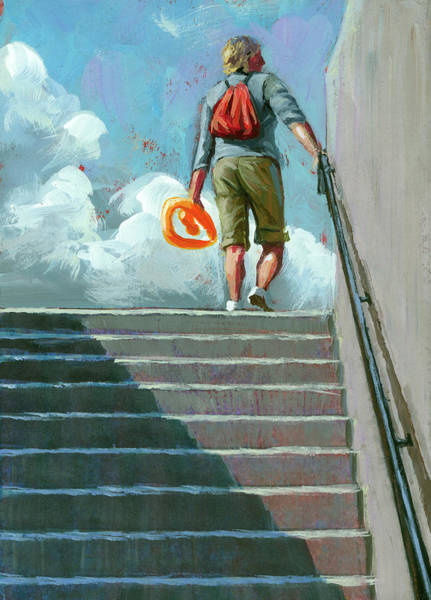 Painting - Up Stairs by Lesley Spanos