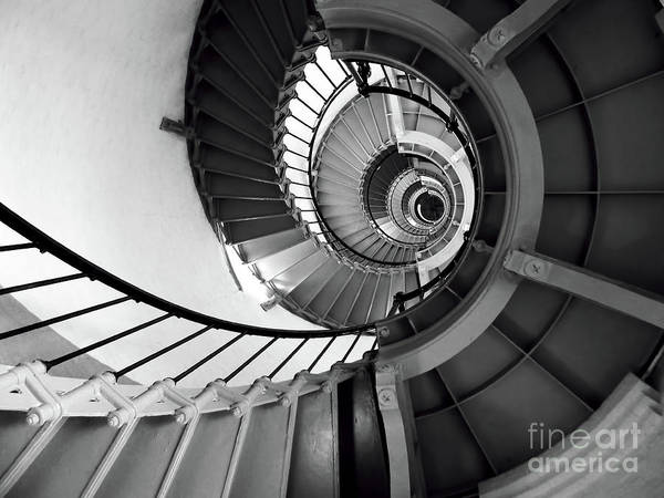 Photograph - Up The Ponce Inlet Lighthouse Spiral Staircase by D Hackett