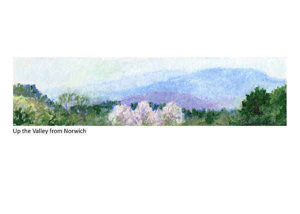 Painting - Up The Valley From Norwich by Betsy Derrick