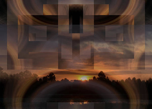 Digital Art - Up There In The Sky At Dawn by rd Erickson
