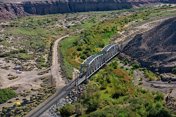 Photograph - Up Tracks Cross The Mojave River by Jim Thompson
