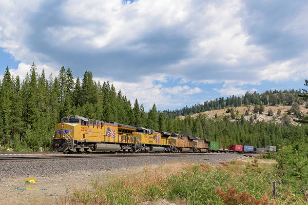 Photograph - Up2650 Westbound From Donner Pass by Jim Thompson