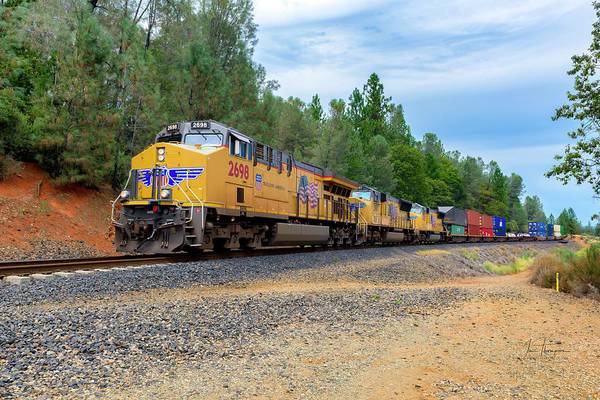 Photograph - Up2698 Westbound At West Weimar Cross Road by Jim Thompson