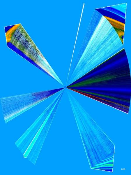 Wall Art - Digital Art - Upbeat Blue Abstract by Will Borden