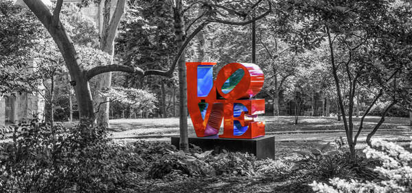 Wall Art - Photograph - Upenn - Love - Selective Color by Bill Cannon