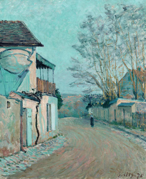 Rural Life Wall Art - Painting - Uphill Road by Alfred Sisley