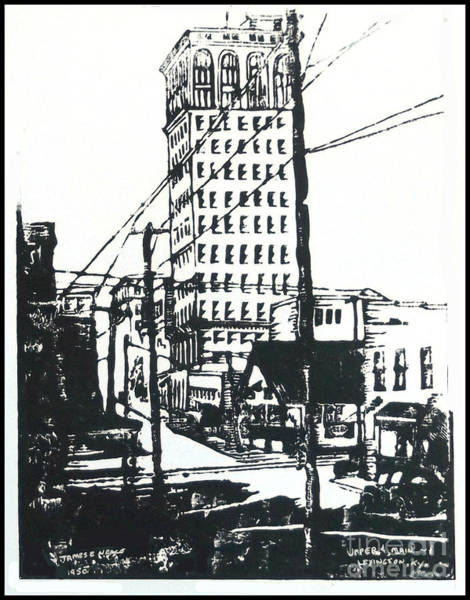 Drawing - Upper And Water St by David Neace