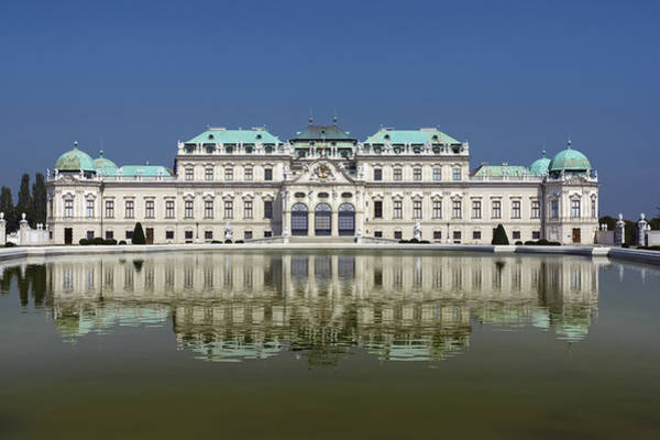 The Belvedere Photograph - Upper Belvedere  Vienna, Austria by Terence Waeland