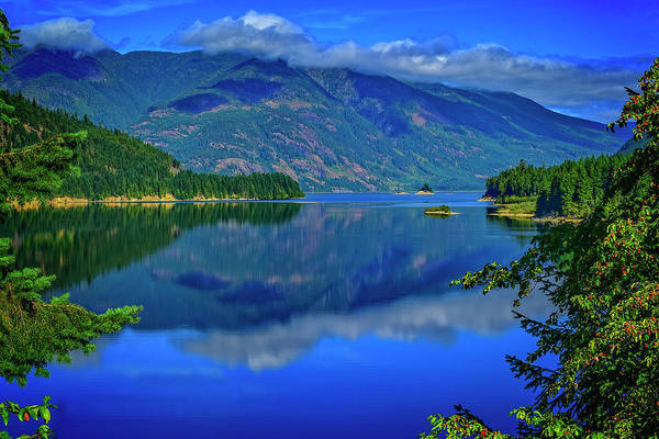 Digital Art - Upper Campbell Lake by Richard Farrington