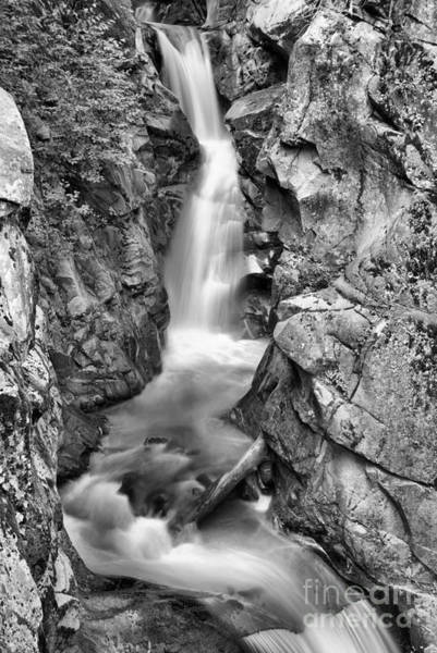 Photograph - Upper Christine Falls - Black And White by Adam Jewell