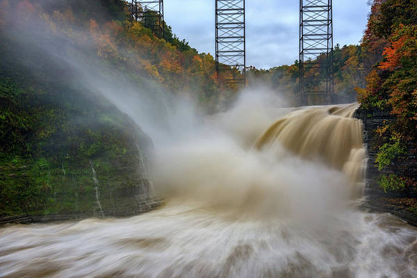 Wall Art - Photograph - Upper Falls After A Storm by Rick Berk