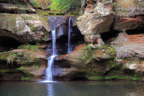 Photograph - Upper Falls At Old Man's Cave by Angela Murdock
