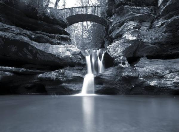 Hocking Hills Photograph - Upper Falls Hocking Hills Ohio by Dan Sproul