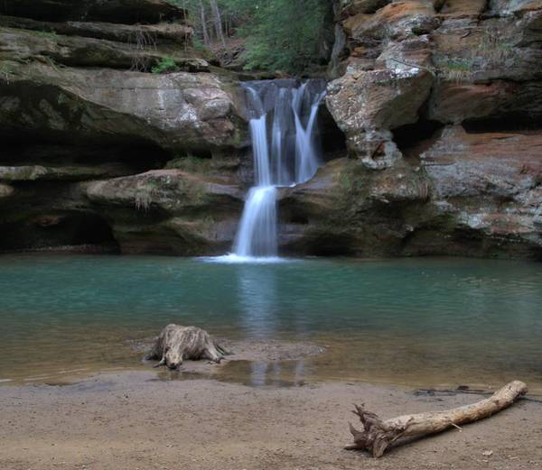 Hocking Hills Photograph - Upper Falls In Hocking Hills by Dan Sproul