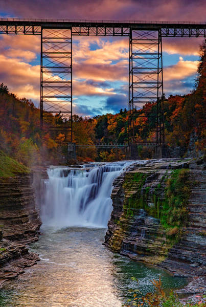 Berk Wall Art - Photograph - Upper Falls Letchworth State Park by Rick Berk