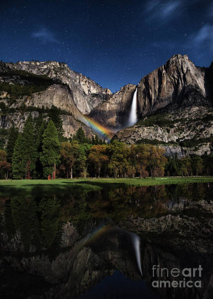 Photograph - Upper Falls Moonbow by Anthony Michael Bonafede