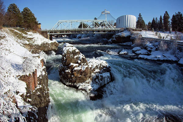 Wall Art - Photograph - Upper Falls Winter - Spokane by Daniel Hagerman