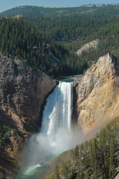 Photograph - Upper Falls, Yellowstone River by Christopher Kirby