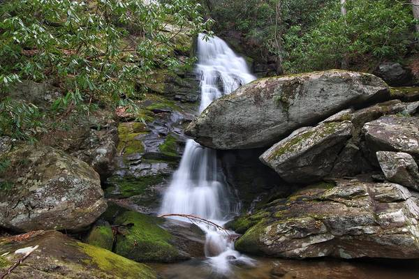 Photograph - Upper Little Lost Cove Falls - North Carolina Waterfall by Chris Berrier