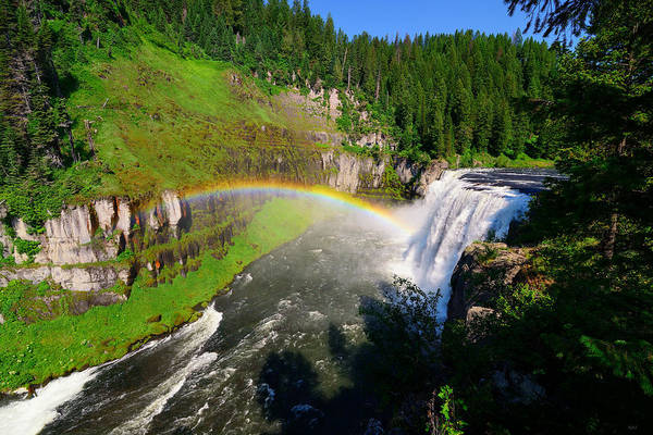 Photograph - Upper Mesa Falls by Greg Norrell
