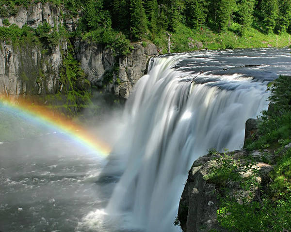 Photograph - Upper Mesa Falls by Ronnie and Frances Howard