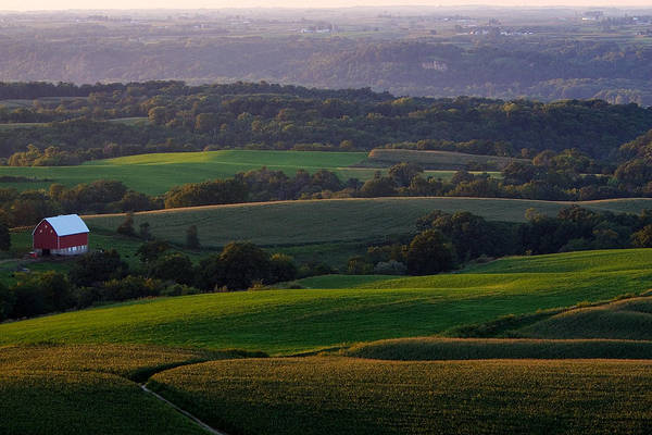 Photograph - Upper Mississippi River Valley Hills by Jane Melgaard