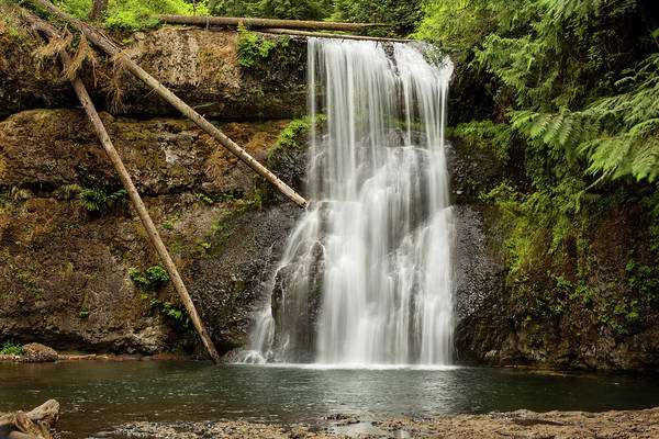 Photograph - Upper North Silver Falls by Mary Jo Allen