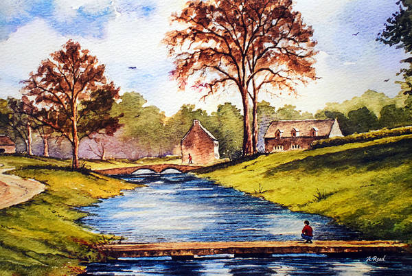 Wall Art - Painting - Upper Slaughter Cotswolds by Andrew Read