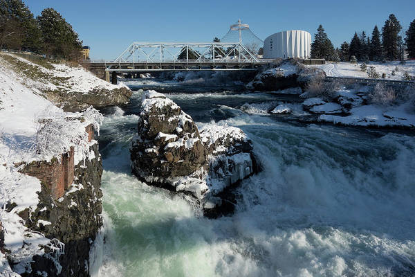 Wall Art - Photograph - Upper Spokane Falls Winter Ice by Daniel Hagerman