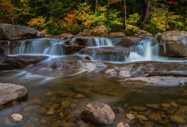 Upper Swift River Falls In White Mountains New Hampshire Art Print