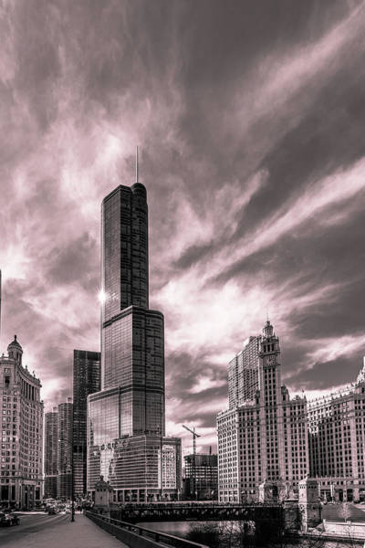 Photograph - Upper Wacker Monochrome by Randy Scherkenbach