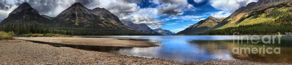 Photograph - Upper Waterton Panoramic Reflections by Adam Jewell