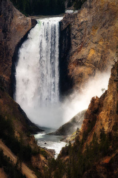 Photograph - Upper Yellowstone Falls by Harry Spitz