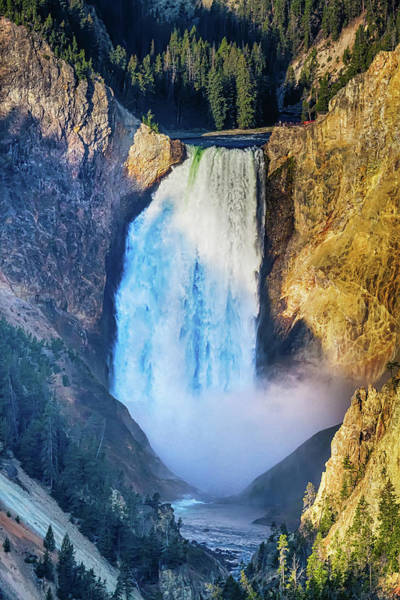 Photograph - Upper Yellowstone Falls by James BO Insogna
