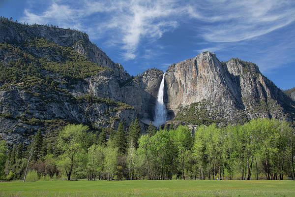 Photograph - Upper Yosemite Falls In Spring by Cheryl Strahl