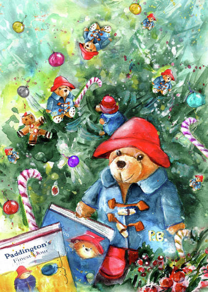 Painting - Upside Down Christmas With Paddingtons by Miki De Goodaboom
