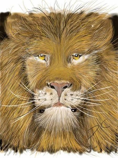 Digital Art - Upside Down by Darren Cannell