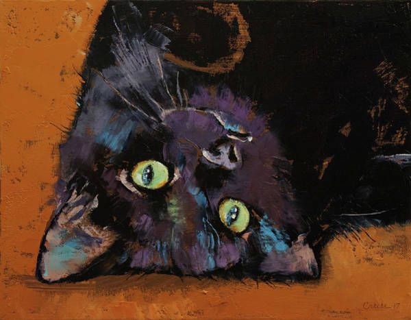 Wall Art - Painting - Upside Down Kitten by Michael Creese