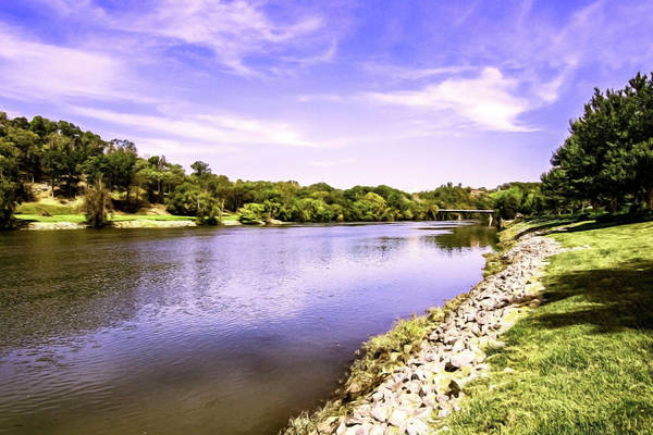 Photograph - Upstream On The French Broad River by Sally Sperry