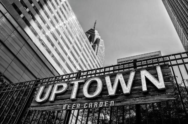Wall Art - Photograph - Uptown Beer Garden - Philadelphia In Black And White by Bill Cannon