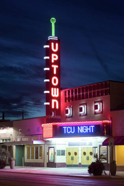 Photograph - Uptown Horned Frogs Night V2 by Rospotte Photography