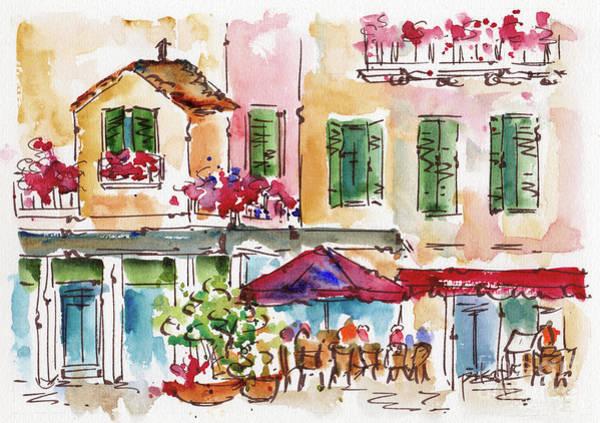 Painting - Upupa Ristorante Jewish Ghetto Venezia by Pat Katz