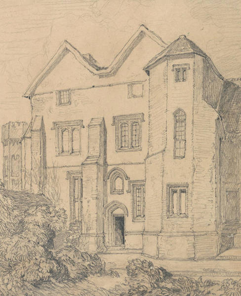 Drawing - Upwell Rectory, Norfolk by John Sell Cotman