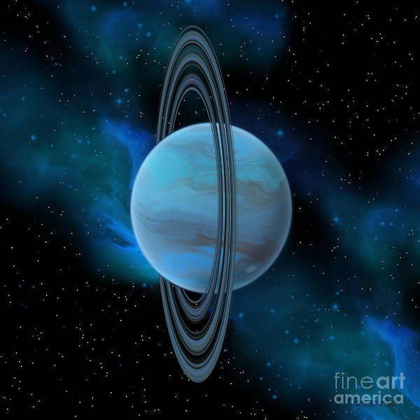 Wall Art - Painting - Uranus Planet by Corey Ford