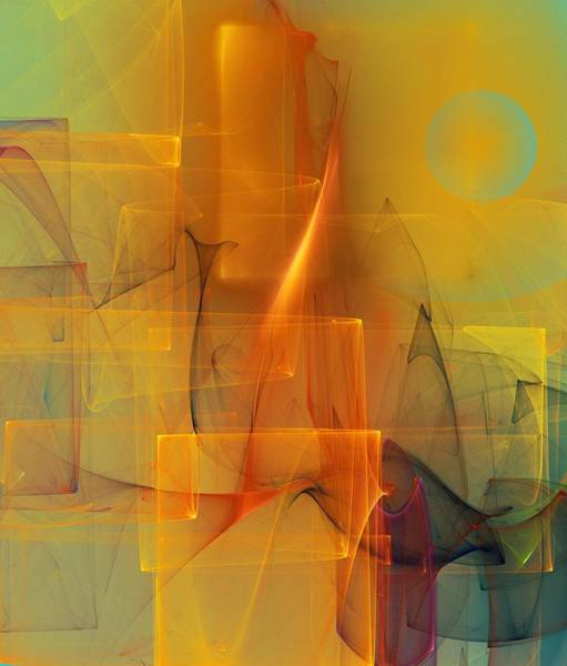 Abstract Expressionism Digital Art - Urban  Abstract 062411 by David Lane