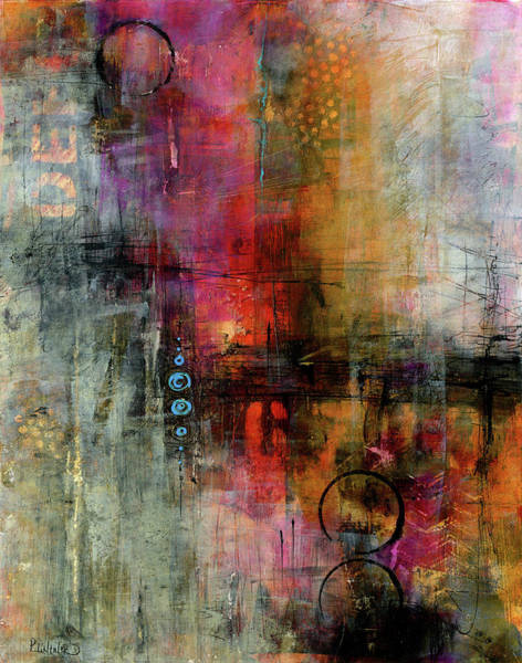 Mixed Media - Urban Abstract Color 2 by Patricia Lintner