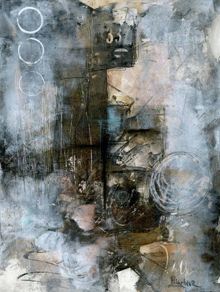 Painting - Urban Abstract Cool Tones by Patricia Lintner