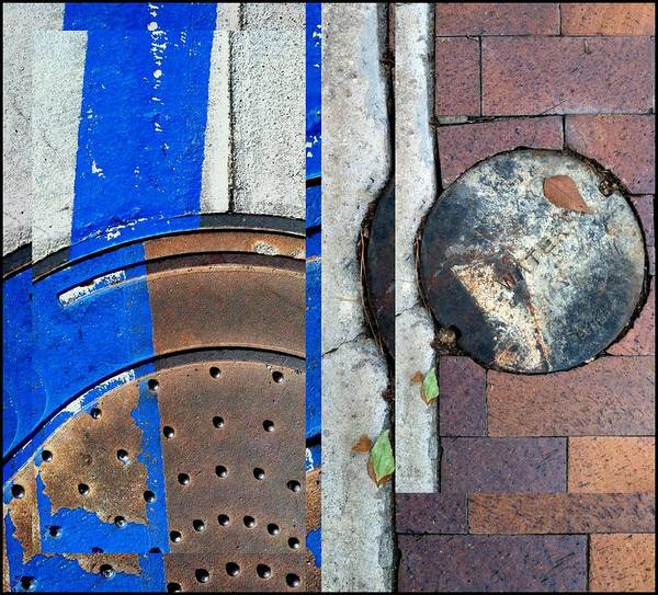 Photograph - Urban Abstracts Seeing Double 5 by Marlene Burns