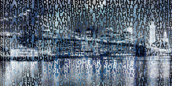 Wall Art - Photograph - Urban-art Nyc Brooklyn Bridge I by Melanie Viola